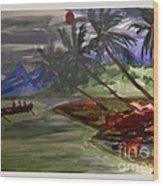The Amazon Wood Print