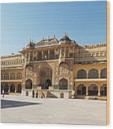 The Amber Fort Wood Print