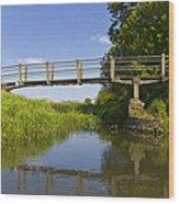 The Ambling River Wood Print