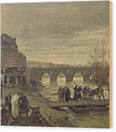 The Ambulance De La Presse At Joinville During The Siege Of Paris Oil On Canvas Wood Print