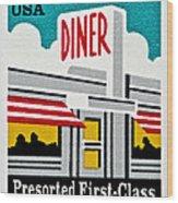 The American Diner  Wood Print