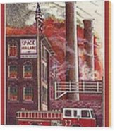 The American Dream Is Burning Wood Print