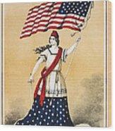 The American Flag A New National Lyric Wood Print
