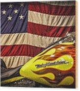The American Ride Wood Print