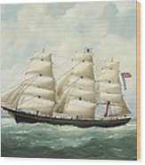 The American Ship Olive S Southard Of San Francisco In French Waters Off Le Havre Wood Print
