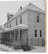 the ananda arthouse in the former st josephs rectory in Forget Saskatchewan Canada Wood Print