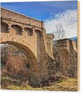 The Ancient Bridge At Ponte Novu In Corsica Wood Print
