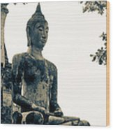 The Ancient City Of Ayutthaya Wood Print by Thosaporn Wintachai