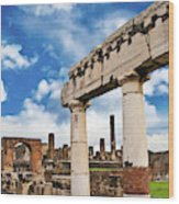 The Ancient Ruins Of Pompeii, Italy Wood Print