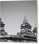 The Ancient Stupas Of Borobudur Wood Print
