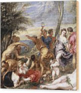 The Andrians A Free Copy After Titian Wood Print