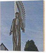 The Angel Of Bargoed 2 Wood Print