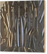 The Angel Of Bargoed Abstract Wood Print