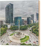 The Angel Of Independence, Mexico City Wood Print