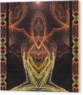 The Angel Of Meditation Wood Print