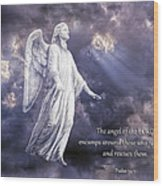 The Angel Of The Lord Wood Print