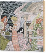 The Angels Kitchen Wood Print by Eugene Grasset