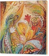 The Angels On Wedding Triptych - Left Side Wood Print