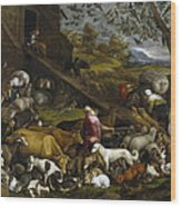 The Animals Entering Noah's Ark Wood Print