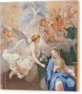 The Annunciation Wood Print by Giovanni Odazzi