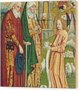 The Annunciation To Joachim And Anne, From The Dome Altar, 1499 Wood Print