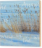 The Answer Is Blowing In The Wind Wood Print