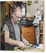 The Antique Dealer Wood Print