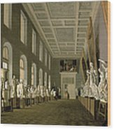 The Antiquities Gallery Of The Academy Of Fine Arts, 1836 Oil On Canvas Wood Print