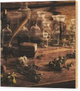 The Apothecary Wood Print by Priscilla Burgers