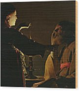 The Appearance Of The Angel To Saint Joseph Wood Print