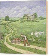 The Apple Barrow Wood Print