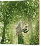 The Apple Fairy Wood Print