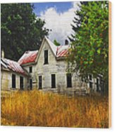 The Apple Tree On The Hill Wood Print