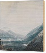 The Approach To Martigny Rhone Valley Valais Wood Print