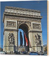 The Arc De Triomphe De Etoile  Wood Print