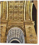 The Arc De Triomphe Wood Print
