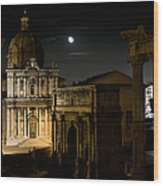 The Arch Of Septimius Severus Wood Print