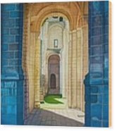 The Arches Of The Abbey At Jumieges Wood Print