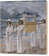 The Ark Passes Over The Jordan Wood Print by James Tissot