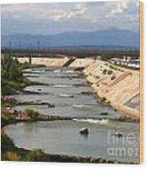 The Arkansas River And Pike's Peak Wood Print