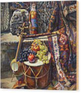 The Armenian Still-life With A Armenian Doll Wood Print