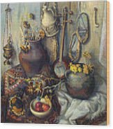 The Armenian Still-life With Culture Subjects Wood Print