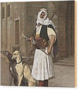 The Arnaut With Two Whippets Wood Print