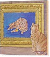The Art Critic Wood Print