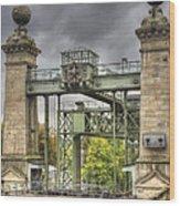 The Art Nouveau Ships Elevator - Portal View Wood Print