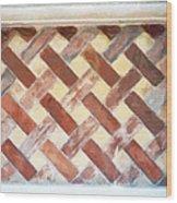 The Art Of Brick Weaving  Wood Print