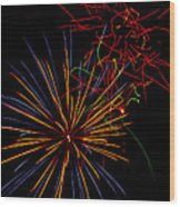 The Art Of Fireworks  Wood Print