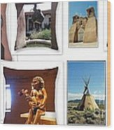 The Art Of New Mexico Wood Print