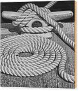 The Art Of Rope Lying Wood Print