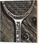The Art Of Tennis 2 Wood Print